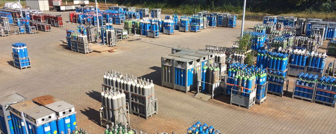 Lagerplatz für technische Gasen, Mischgase und Sondergasen